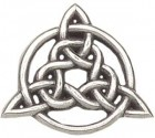 "Celtic Trinity Knot Lapel Pin - 1"" H"