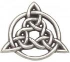 """Celtic Trinity Knot Lapel Pin - 1"""" H"""