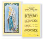Oracion A Nuestra Senora De Lourdes Laminated Spanish Prayer Cards 25 Pack