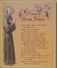 Prayer of St. Francis Gold Framed Print