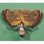Two Hearts Love Candle Wall Sconce