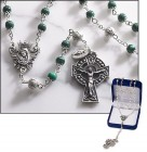 Irish Rosary with Malachite Bead