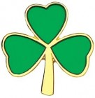 Irish Clover Lapel Pin - 1""