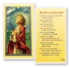My Gift To The Christ Child Laminated Prayer Cards 25 Pack