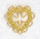 Filigree Heart with Cutout Lapel Pin(12 pieces per order)