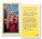 Good Morning God Christ Knock Laminated Prayer Cards 25 Pack