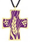 Vine and Grapes Cross Pendant / Eucharistic Minister Pendant
