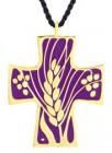 Vine and Grapes Cross Pendant / Eucharistic Minister Pendant