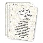 God Sees Every Tear Prayer Cards - pack of 25