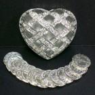 Silver Tone Arras in Crisscross Heart Box
