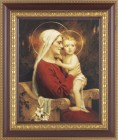 Madonna and Child Full of Joy Framed Print