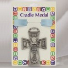 Protect This Boy Pewter Cross Crib Medal