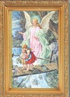 Guardian Angel Antique Gold Framed Print