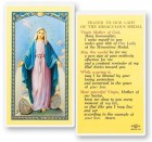 Our Lady of The Miraculous Medal Laminated Prayer Cards 25 Pack