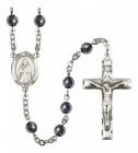Men's St. Samuel Silver Plated Rosary