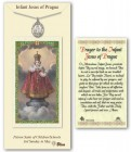 Infant of Prague Medal in Pewter with Prayer Card