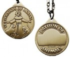 Round St. Francis Pet Medal