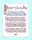 Prayer for a Little Boy Print - Sold in 3 per pack