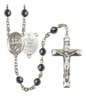 Men's St. George Army Silver Plated Rosary