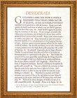 Desiderata Framed Print - 4 Frame Options Available