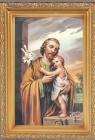 St. Joseph Antique Gold Framed Print