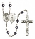 Men's Guardian Angel Air Force Silver Plated Rosary