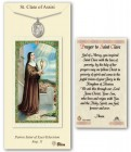 St. Clare of Assisi Medal in Pewter with Prayer Card