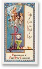 First Holy Communion Unisex Laminated Prayer Cards 25 Pack