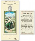 St. Luke the Apostle Medal in Pewter with Prayer Card