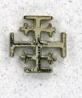 Jerusalem Cross Lapel Pin (12 pieces per order)