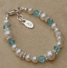 Freshwater Pearl Child's Birthstone Bracelet - Small