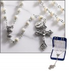 First Communion Mother of Pearl Italian Rosary