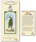St. Jude Thaddeus Medal in Pewter with Prayer Card
