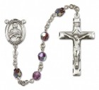 St. Kateri Sterling Silver Heirloom Rosary Squared Crucifix