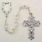 April Birthstone Rosary (Crystal) - Rhodium Plated