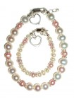 Pink Freshwater Pearl Mom and Me Bracelet Set