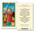 St. Agatha Laminated Prayer Cards 25 Pack