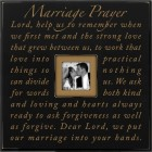 Marriage Prayer Oversized Photo Frame