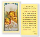 Angel De La Guarda Con Farol Laminated Spanish Prayer Cards 25 Pack