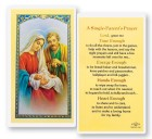 A Single Parents Laminated Prayer Cards 25 Pack