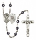 Men's St. Michael Coast Guard Silver Plated Rosary