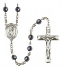 Men's St. Christopher Silver Plated Rosary
