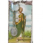 St. Jude Key Ring with Prayer Card