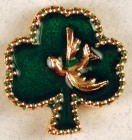 Shamrock with Dove Lapel Pin (12 per order)