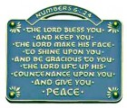 The Lord Bless You and Keep You Wall Plaque - 2.5 inches