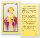 Little White Guest Christ Child Laminated Prayer Cards 25 Pack