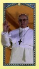 Pope Francis Laminated Prayer Cards
