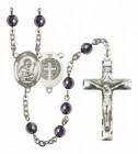 Men's St. Benedict Silver Plated Rosary