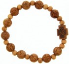 Jujube Rose Wood Rosary Bracelet - 10mm [RB3931]