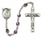St. Genesius of Rome Sterling Silver Heirloom Rosary Squared Crucifix